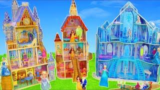Princess Dollhouse w/ Belle, Elsa, Cinderella, Rapunzel, Ariel & Snow White Toy Dolls for Kids