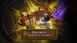 Hearthstone Update: Upcoming Card Pack Changes