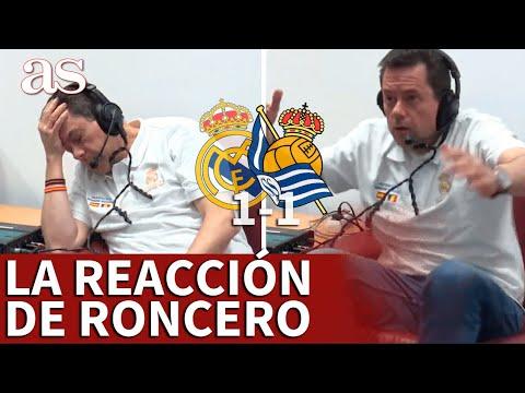 REAL MADRID 1- REAL SOCIEDAD 1   El éxtasis de RONCERO con el gol de VINICIUS que no sirvió   AS