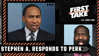 Stephen A. responds to Perk saying 'CP3 needs CPR'   First Take