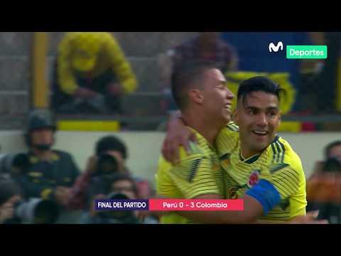 Perú vs. Colombia 0-3  RESUMEN y GOLES del partido amistoso internacional