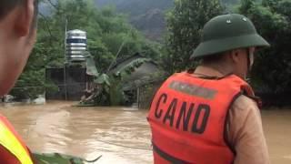 Cứu nạn lũ lụt Sơn Cẩm, Phú Lương, Thái Nguyên 18092014