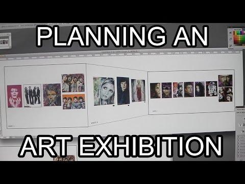 Planning an Art Exhibition - Artist VLOG