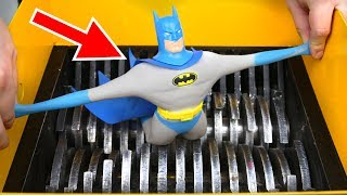 SHREDDING STRETCH BATMAN TOY! AMAZING VIDEO!