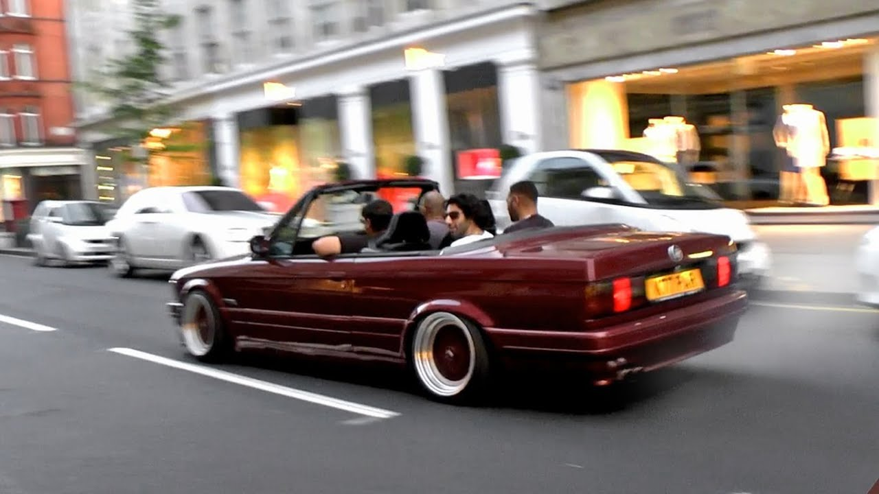 Slammed Bmw E30 Crazy Wheelspins Chase Through London