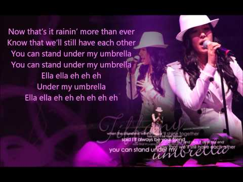 Tiffany - Umbrella ( Lyrics on screen ; Studio Version ) 1080p HD