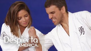 Karla y Pamela Silva Conde nos enseñaron técnicas de defensa personal