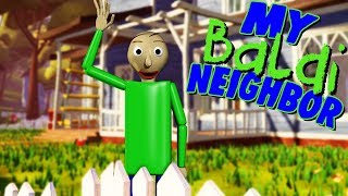 WHAT IF BALDI WAS MY NEIGHBOR?! | Baldi's Basics / Hello Neighbor Mobile Ripoff