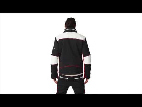 SOS X Biker Mens Ski Jacket in Black And Red