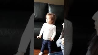 Ella singing wheels on the bus