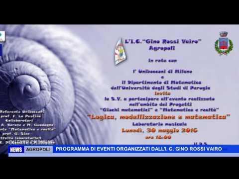 AGROPOLI PROGRAMMA DI EVENTI ORGANIZZATI DALL'I C GINO ROSSI VAIRO