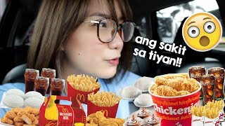 LETTING THE CAR IN FRONT OF ME DECIDE WHAT I EAT FOR A DAY | Philippines | Erika Lim