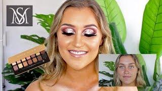 Client tutorial - Rose Gold Glitter Cut Crease -  ABH Soft Glam Palette - Sherree Morris MUA
