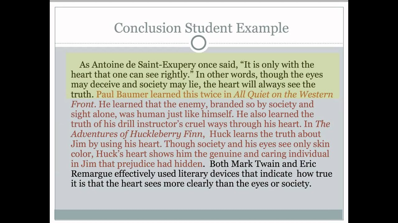 Essay Conclusion Template