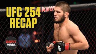 UFC 254 recap: Khabib Nurmagomedov retires after beating Justin Gaethje | ESPN MMA