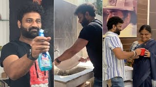 DSP completes real man challenge; sweeps, cooks for family..