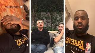 LeBron Exhausted In Hotel Room, colin Cowherd & Nick Wright React To Lakers Big Win