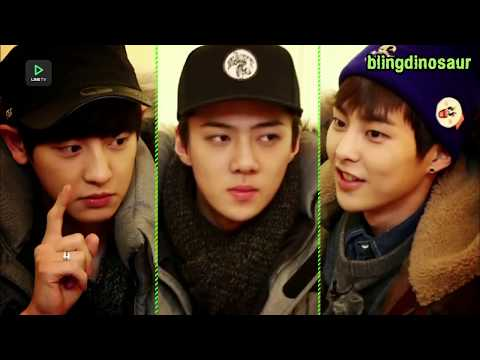 [ENG SUB] EXO PLAY PEPERO GAMES AND FINGER FOLD GAMES [BLINGDINASOUR]