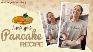 Jabardasth fame Anasuya makes strawberry pancake..