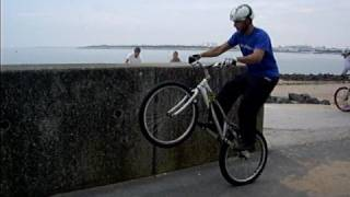 Mountain bike trials on the rocks