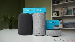 Amazon Echo, Echo Plus y Echo Dot   review en español
