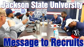 Deion Sanders coaching staff's message to recruits || Jackson State University Football