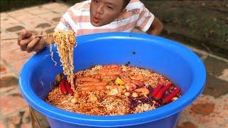 Làm Thau Mỳ Cay Khổng Lồ To Nhất Việt Nam