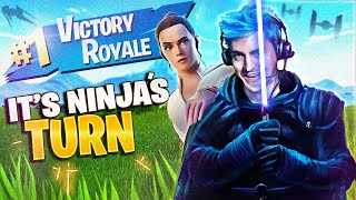 IT'S MY TURN TO USE THE LIGHTSABERS! - Fortnite Battle Royale