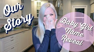 OUR STORY // BABY GIRL NAME REVEAL // TTC & PREGNANCY JOURNEY // BEAUTY AND THE BEASTONS