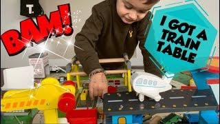 KIDKRAFT TRAIN TABLE PRETEND PLAY FOR KIDS - SEBASTIANS PLAYHOUSE