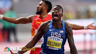 Grant Holloway's massive upset brings 110m hurdle crown back to America | NBC Sports