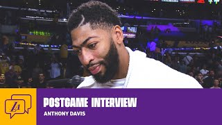 Lakers Postgame: Anthony Davis (10/16/19) | Lakers
