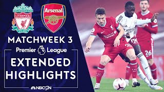Liverpool v. Arsenal | PREMIER LEAGUE HIGHLIGHTS | 9/28/2020 | NBC Sports