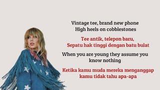 Cardigan - Taylor Swift (Lyrics video terjemahan)