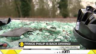 Prince Philip involved in a car crash..