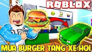 Roblox | KIA XÂY TIỆM BÁN BURGER TẶNG XE HƠI - Burger Factory Tycoon | KiA Phạm