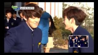 Kim Woo Bin tries to kiss Lee Jong Suk