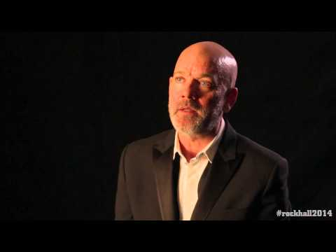 Michael Stipe backstage interview at the 2014 Rock and Roll Hall of Fame Inductions