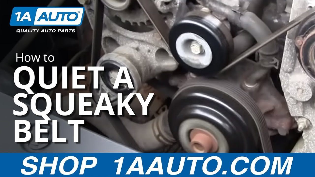 Quiet A Squeaky Engine Serpentine Belt By Cleaning From