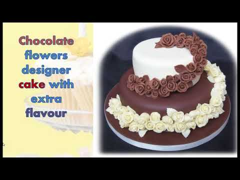 Order a simple and designer cake with chocolate flavour in Connaught place Delhi