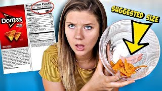 Only Eating Recommended Serving Sizes for 24 hours! * TINY PORTIONS | Totally Taylor