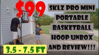 sklz portable pro mini kids basketball hoop goal unbox and review #unboxing #review