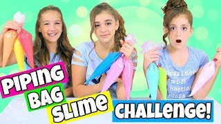 Piping Bag Slime Challenge with 3 Colors of Glue!