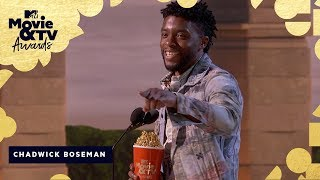 Chadwick Boseman Wins Best Hero & Honors James Shaw Jr. | 2018 MTV Movie & TV Awards