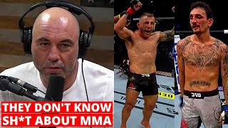 Joe Rogan and Dana White GO OFF on judges after Volkanovski vs Holloway 2, UFC 251 reactions..