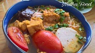 Bún riêu, bún riêu cua đồng, ngon đúng điệu || Vietnamese crab noodle soup || Natha Food