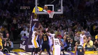 02-28-2010 - Nuggets vs. Lakers - Ron Artest Tough Defense On Carmelo Anthony (HD)