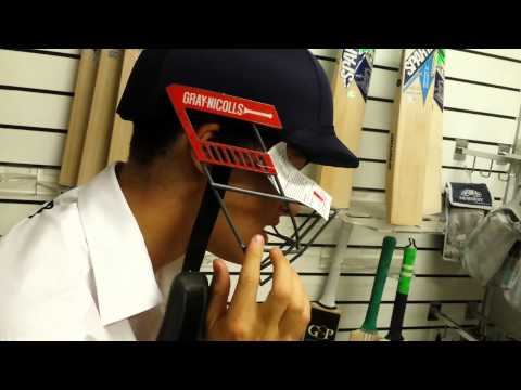 Gray-Nicolls Test Opener Cricket Batting Helmet (Navy)