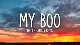 Usher - My Boo (Lyrics) ft. Alicia Keys