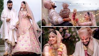 Inside videos from Anushka Sharma and Virat Kohli's lavish..